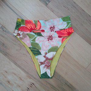 Aerie High Cut Cheeky Tropical Bikini Bottom